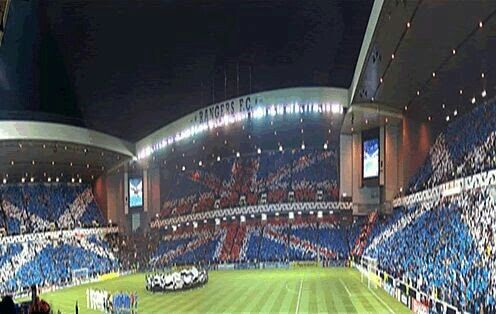 Glasgow rangers Ibrox stadium, best in the world!!