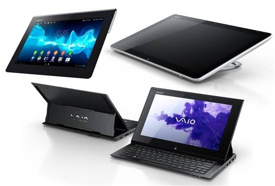 Sony debuts new phones, tablets, TVs, cameras | From top left, the Sony Tablet S, Tap20, and Vaio Duo 11 (Photo: Sony)