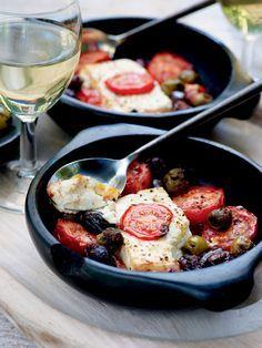Pascale Naessens recept - Warme feta met tomaat en olijven