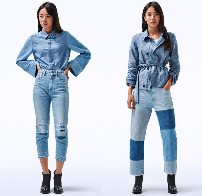 3975b8541be2 G-Star RAW Amsterdam 2018 Spring Summer Womens Fashion Lookbook - Deline  Mac Motac-