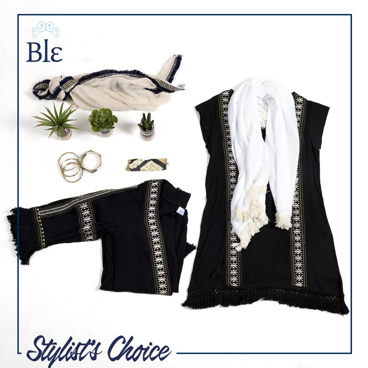 """Nothing else speaks """"elegance"""" more clearly than black. Mix and match with a beige or white scarf for a more """"dramatic"""" look.  Copy the look here http://www.ble-shop.com #StylistsChoice #BleResortCollection #Style #Shopping #Fashion #Clothes #Scarfs"""