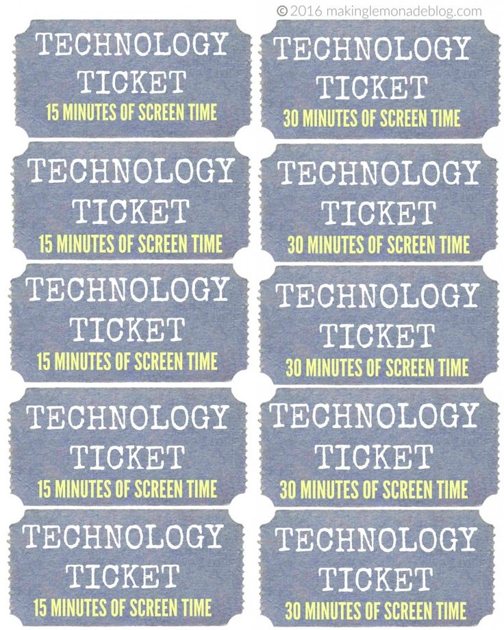 This ONE simple trick will reduce your child's screen time with no tears or tantrums! Completely changed our lives for the better! (Free Printable Technology Tickets)
