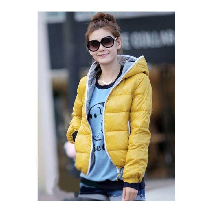 #sarı #kapşonlu #şişmemont harika bir tasarım daha sarı renk bayanlara çok mu yakışıyor ?