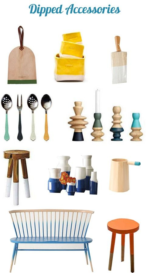 """There's a big trend going on right now in retail and among the do-it-yourself crowd, and it's the two tone dipped paint treatment in furniture and accessories.  The technique is referred to around the design community as """"dipped"""" or """"dip dye"""" and it combines the best of both worlds in home decorating – wood tones [...]"""