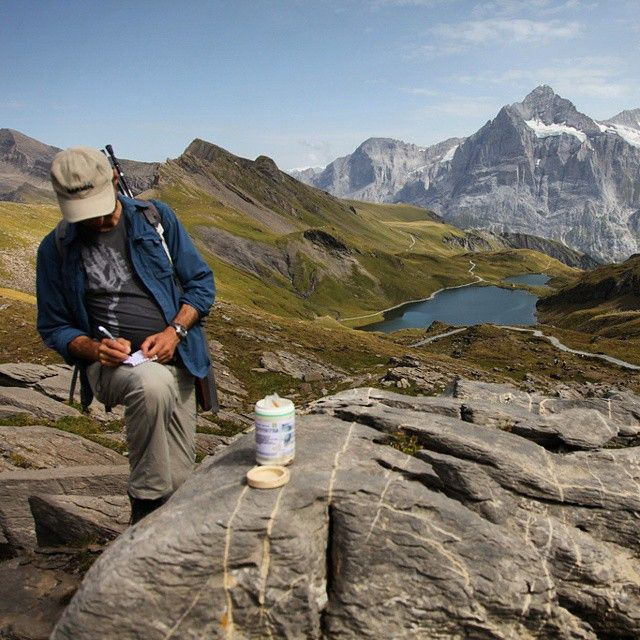 """Swiss #geocaching bliss! Geocacher """"bonstetten"""" finds GC1TJFP and this spectacular view after a short hike in #Switzerland. What's the most beautiful place you've found a geocache?"""