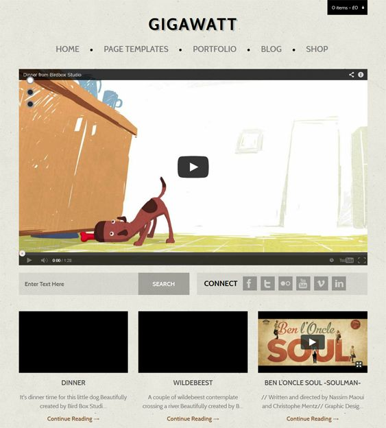This video WordPress theme offers support for self-hosted videos, a drag and drop homepage layout builder, social media icons, oEmbed support, automatic image and video resizing, a responsive layout, WPML support, and more.