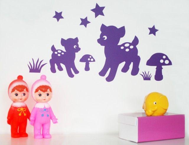 Wall decor deer - Miniandmono #nordicdesigncollective #miniandmono #pantone #pantoneradiantorchide #coloroftheyear #radiantorchide #pantonecoloroftheyear2014 #walldecor #deer #raindeer #bambi #kidsroom #children #kids #childrensroom
