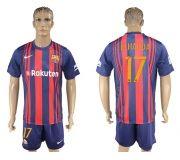 Barcelona FC 17-18 home soccer kits 08