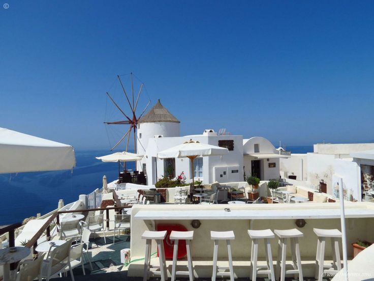 The Windmill Hotel in Oia, Santorini - the most famous Greek island