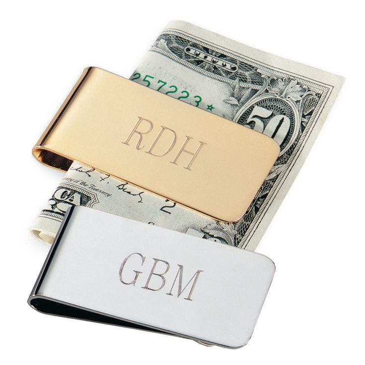 Exclusively Weddings Money Clip for Groomsmen. For the groomsman who takes his money seriously, this handsome money clip is the perfect accessory.