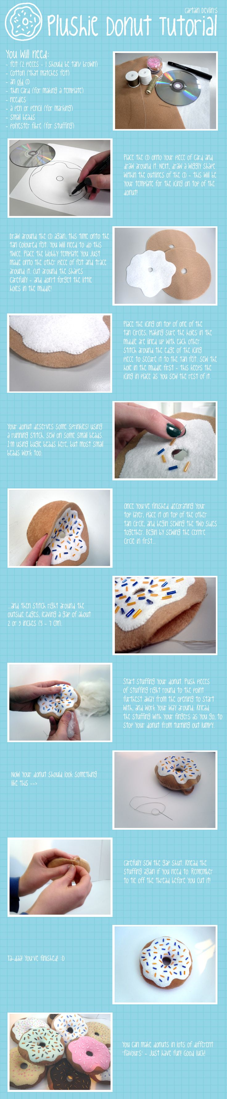 Plush Donut Tutorial by *devliann on deviantART