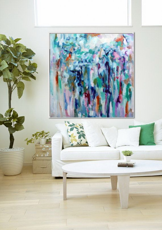 Original large abstract painting oil on canvas by originalhorseart