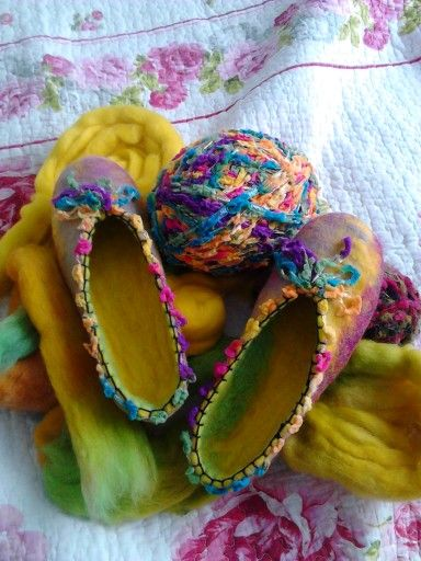 Fieltro de lana... Diseño exclusivo - talla 37   Hermosas