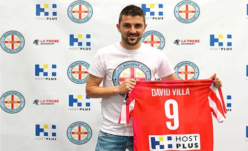 Only 2 days ago our photo of the day was David Villa with his New York City shirt - and now look! Villa to play with Melbourne City (formerly Melbourne Heart) for part of 2014-15 season
