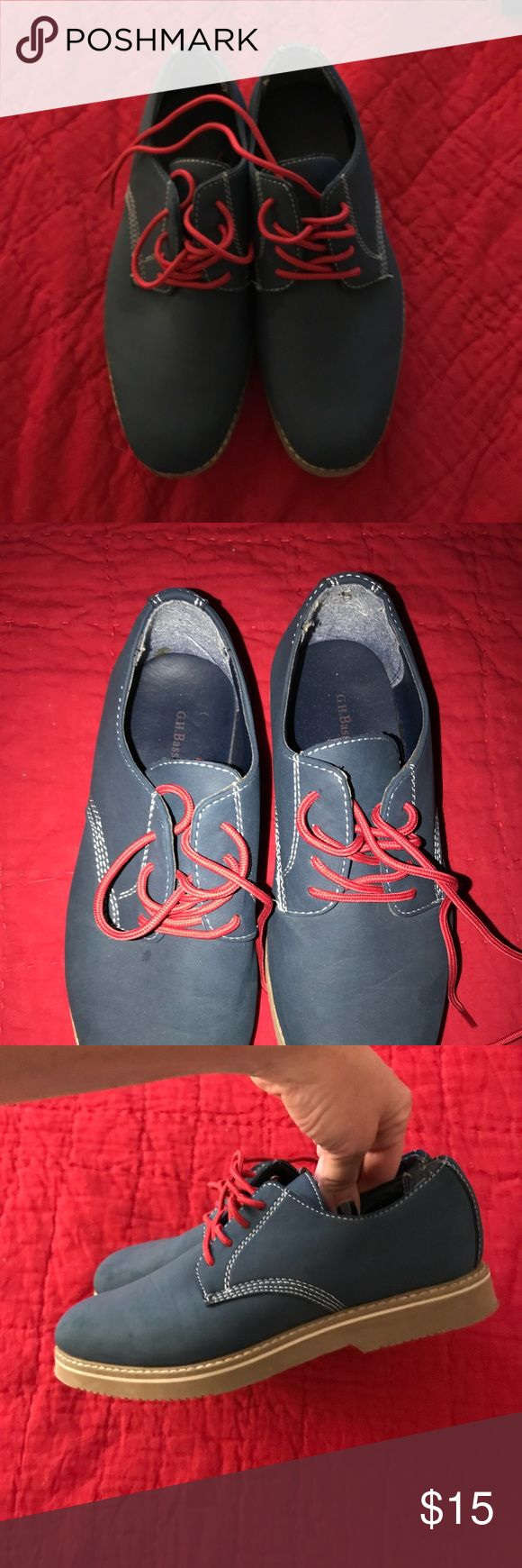 Boys Bass Lace Oxfords Worn Twice blue suede Bass Baxter oxfords. Bass Shoes Dress Shoes