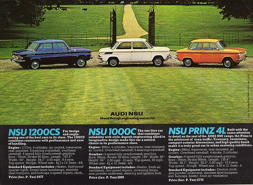 1971 Nsu 1200cs 1000c Amp Prinz 4l Ads Cars And Wheels