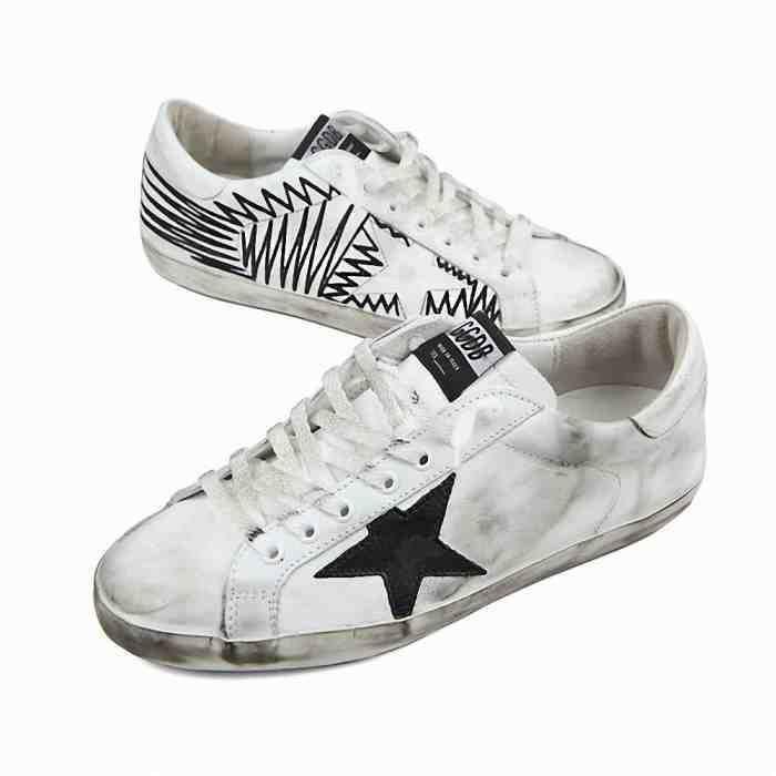 Sneaker Homme, Blanc, Cuir, 2017, 39 40 41 43 44 45Golden Goose