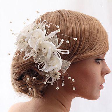 Headpieces Beautiful Crystal Yarn With Imitation Pearls Wedding/Bride Headdress Flower 2016 - $15.99