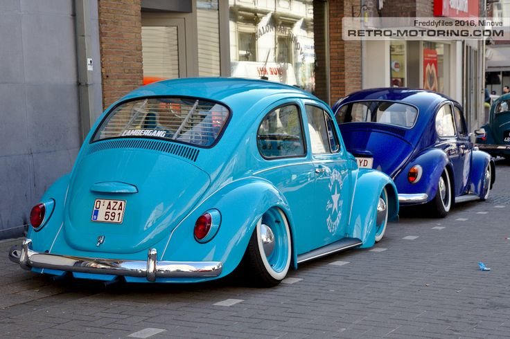 Blauer VW Käfer 0-AZA-591