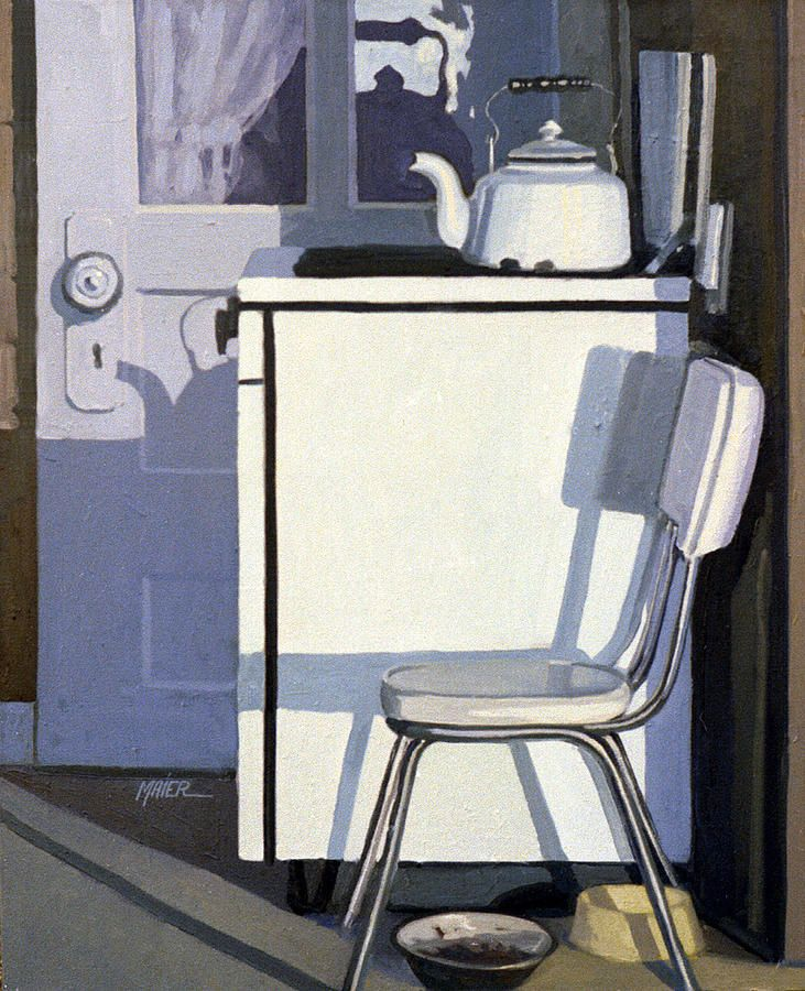 'Study In White Enamel' by Donald Maier