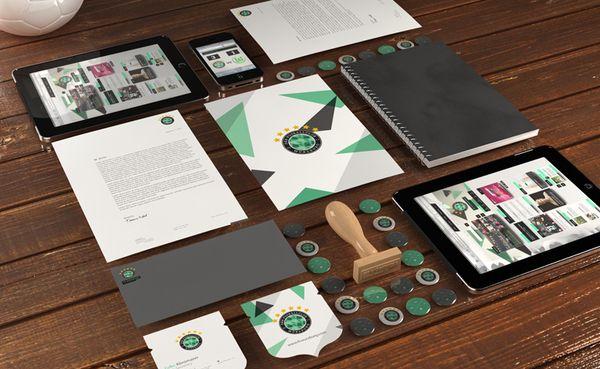 FC Wurzburg (Identity Design) by Craig Pinto, via Behance