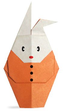 Origami Rabbit that put on clothes