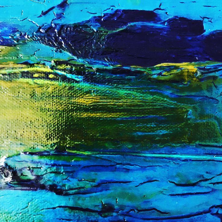 High Gloss Blue/ Green #art #abstract #acrylic #gloss #blue #green