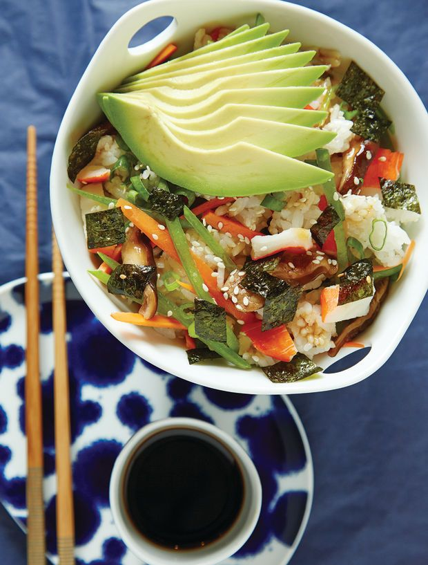 Everything you need to know about sushi including this deconstructed sushi salad recipe