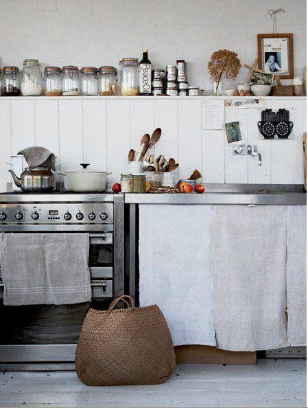 Light, airy, cottage like kitchen.