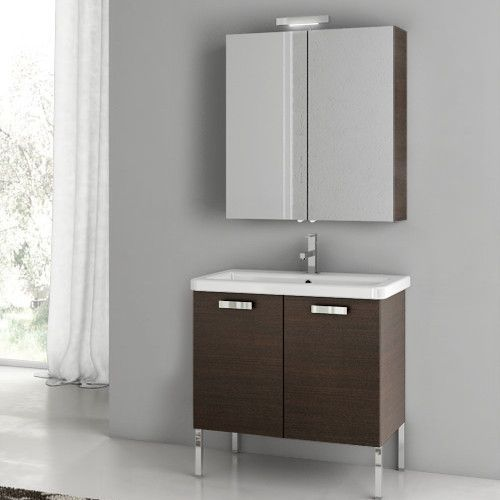 "City Play 29.9"" Single Bathroom Vanity Set with Mirror"