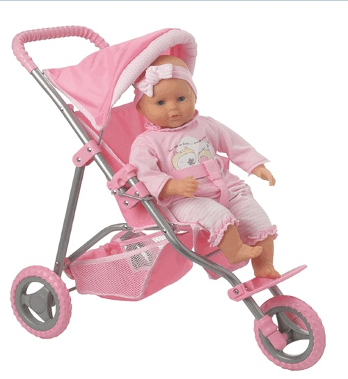 Cute Little Baby Doll Jogging Strollers Baby Doll