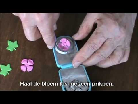 Bloemen maken met Fox klei en flower Punches en de Press Boss