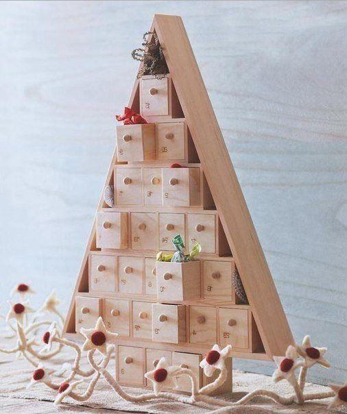 Маленькие шкафчики в виде елки