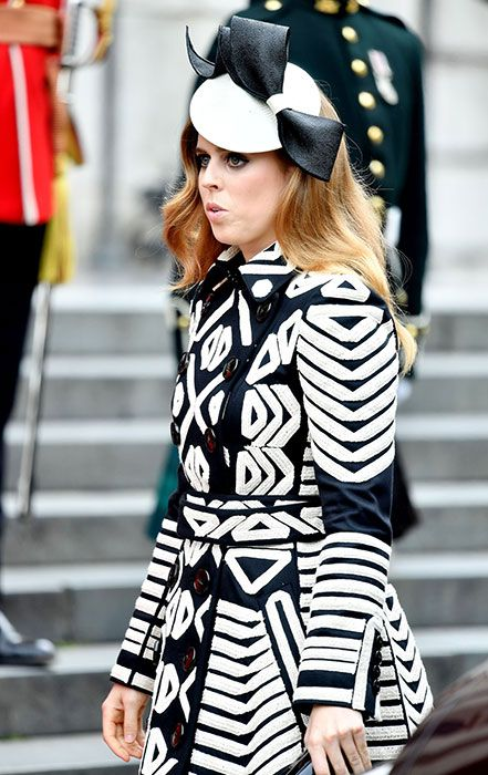 Princess Beatrice attended with her sister Eugenie and her father Prince Andrew