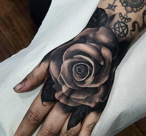 35 Hand Tattoo Design 2018 Goostylescom Rose Hand Tattoo Hand Tattoos For Guys Hand Tattoo Cover Up