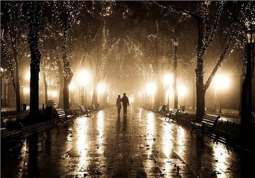 Midnight strolls on a rainy Parisian night... seeking out the cafe' where it is lit warmly and welcomes the chilly wanderer.....