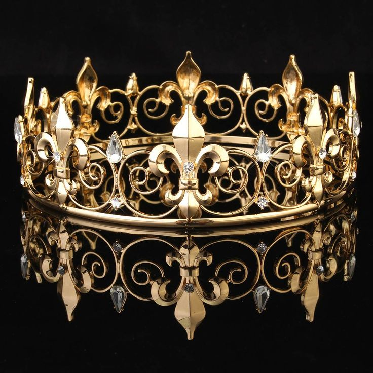 New Elegant Men's Imperial Medieval Fleur De Lis King Crown Prom Accessories 2 colours For Your Choice-in Hair Jewelry from Jewelry & Accessories on Aliexpress.com | Alibaba Group