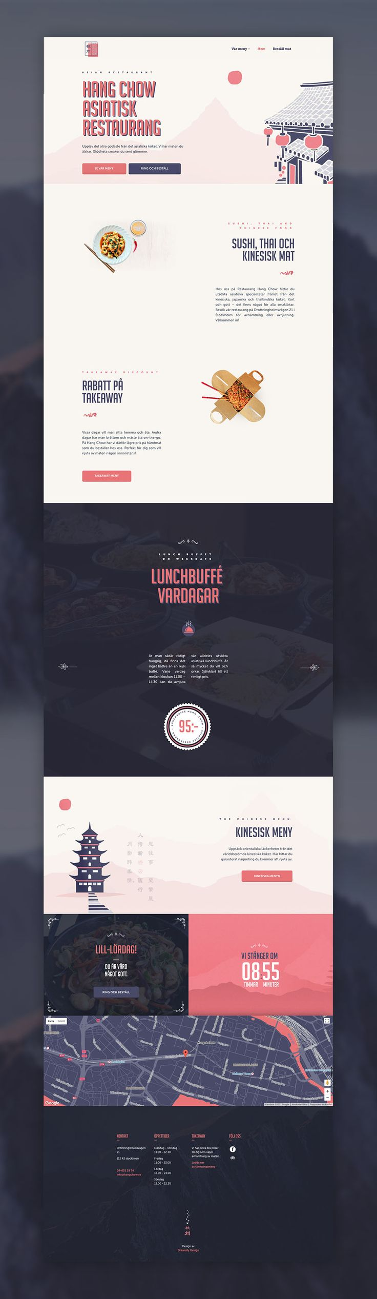 Spicy and oriental mystery -  Asian restaurant website design. Sushi, thai and chinese food.  #webdesign #website #uidesign #uiux #spicy #asianrestaurant #food
