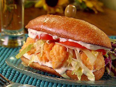 Fried Shrimp Po' Boy Sandwiches