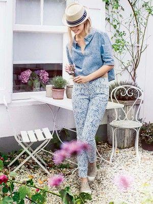 Schnittmuster: Slimfit-Hose - 5-Pocket-Stil - Röhrenhosen & Leggins - Hosen - Damen - burda style