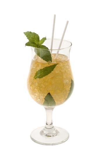 Mint Julep Cocktail - non alcoholic version. (For the alcoholic version, just add rum)!