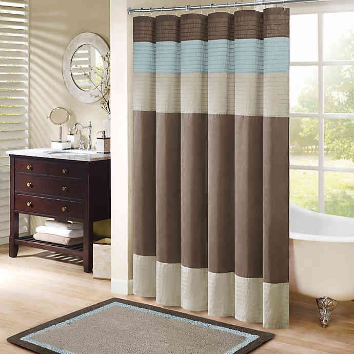 Madison Park Amherst Shower Curtain Bed Bath Beyond Striped Shower Curtains Curtain Accessories Curtains