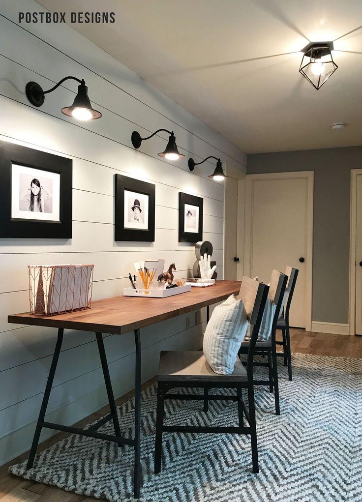 Kid Homework Station Makeover via Online Interior Design
