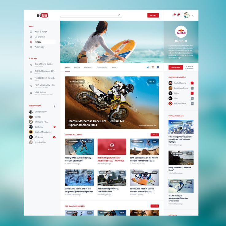 YouTube Redesign V2 by Adrien THOMAS