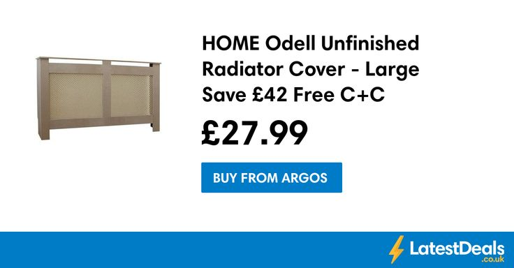 HOME Odell Unfinished Radiator Cover - Large Save £42 Free C+C, £27.99 at Argos