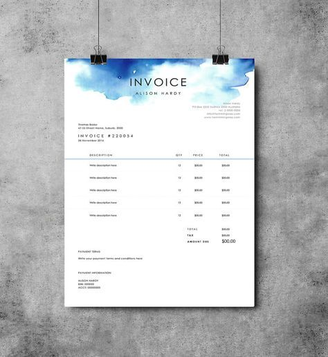 The 25+ best Invoice layout ideas on Pinterest Creative cv - graphic designer invoice