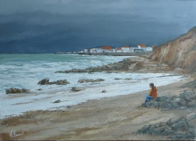 pin tableau peinture mer - photo #48