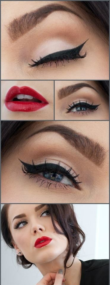 Simple cat-eye liner and bold red lips = perfection made simple! https://t.co/XNSxsr2V5I #themodelfactory