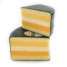 Saxonshires  This layered cheese is also called five counties cheese because of the different cheeses that make up its five layers. These cheeses are: Double Gloucester, Caerphilly, Cheshire, Leicester, and Cheddar. The cheese has a very dramatic appearance and a very pleasing flavor. If you are a fan of any of these British classics, this is definitely a cheese to try.