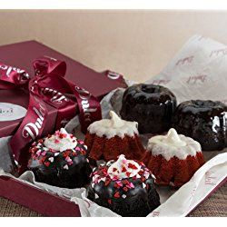 Valentines Lovely Red Velvet,Double Chocolate, Heart Sprinkled Mini Bundts